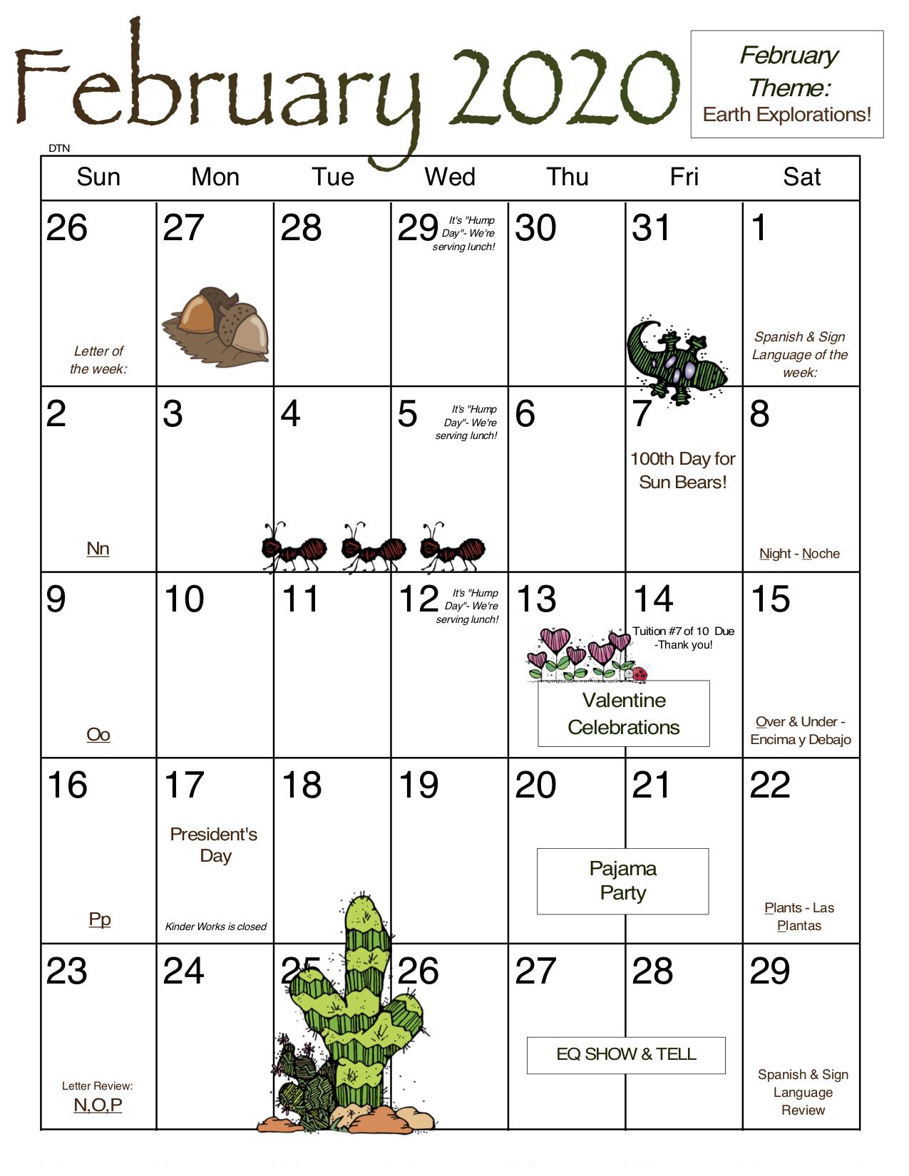 February DTN Calendar